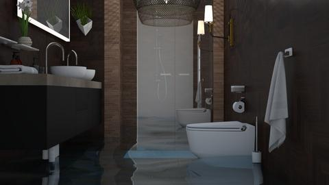 Flooded Brown and white - Bathroom  - by itsbinflooded