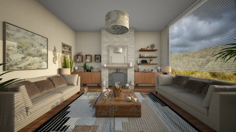 Simple2 - Modern - Living room  - by camilla_saurus