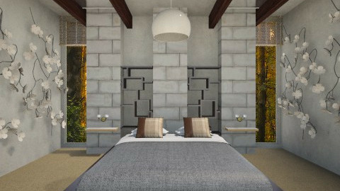Concrete Bedroom - Minimal - Bedroom  - by Milagros Rossi Martino