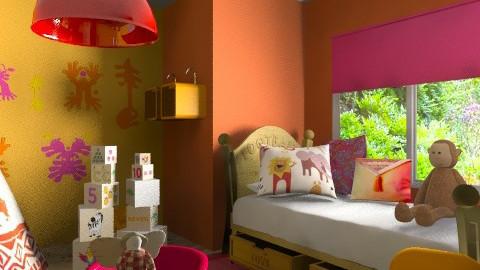 orange kids - Kids room  - by chania
