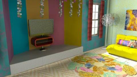 Fluro/Neon  - Retro - Living room  - by Natur_ali