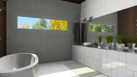 mirrored bathroom - Bathroom  - by AgaRyy