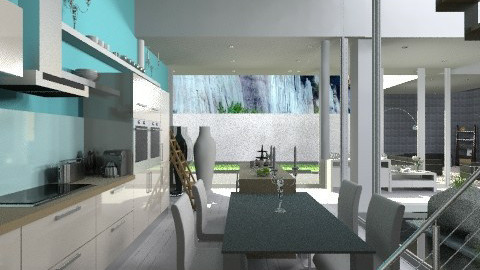 BlueKitchenLiving - Modern - Kitchen  - by StienAerts