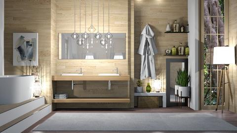 Bamboo Wooden Bathroom - Bathroom  - by ItsKalaniOfficial