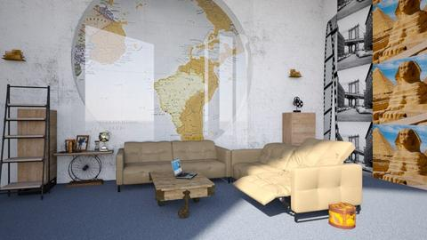 Travel Themed Living Room - Rustic - by deleted_1623158356_popovicsonja