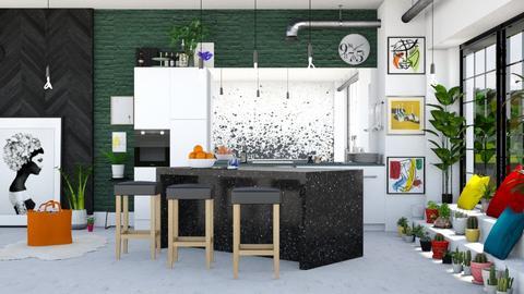 Splatter - Kitchen  - by ArtHousedeco