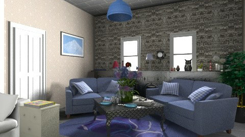 Cozy living room - Glamour - Living room  - by KarolinaZ