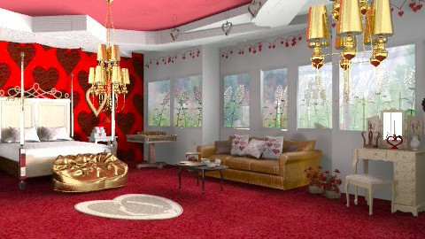 Queen of hearts - Eclectic - Bedroom  - by mrschicken