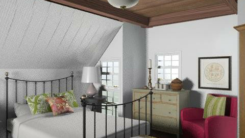 Lakeside Cottage - Guest Bedroom - Rustic - Bedroom - by LizyD