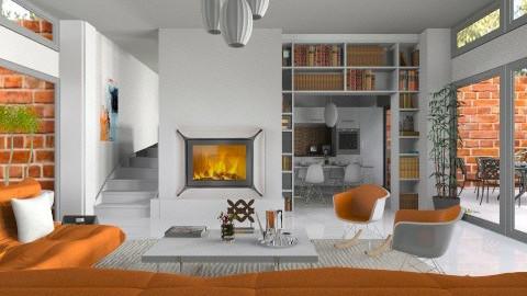 Orange - Living room  - by annasig