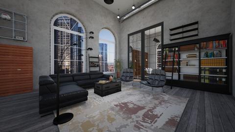 Industrial living room - Living room  - by Erika Salles