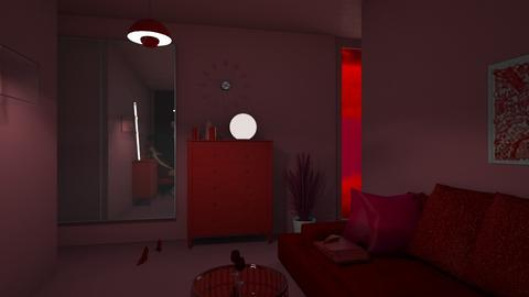 RED - Living room  - by Bia10_moonlight