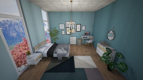 Bluee - Bedroom - by SpookyjimKilljoy