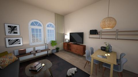 Monis Living Room 1 - Retro - Living room  - by LaCoune