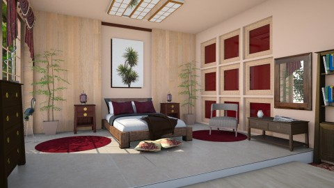 M_ Japanese bedroom - Modern - Bedroom  - by milyca8