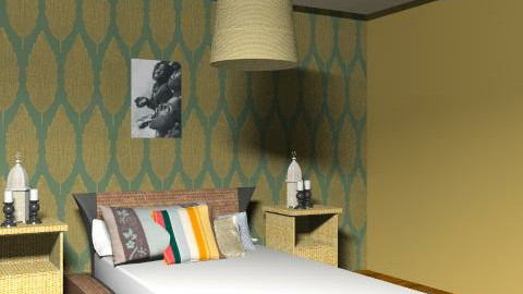 African room - Rustic - Bedroom  - by Sofia Flores