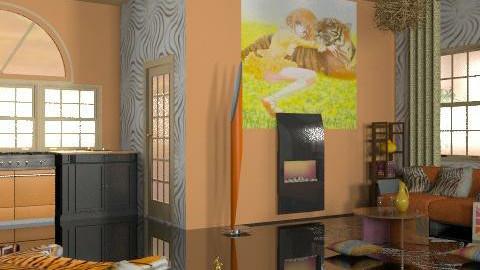 orange stripe - Eclectic - Living room  - by leendave