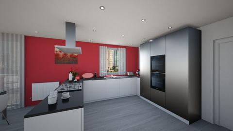 Kitchen appartment - Modern - Kitchen  - by tornadolynn
