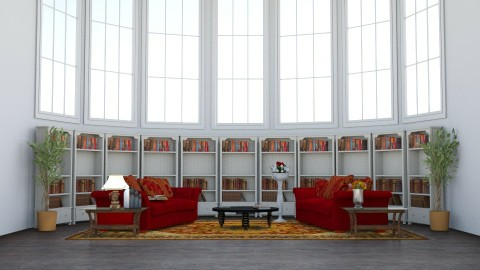 Library - Classic - Living room  - by AC74