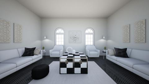 Black and white - Living room  - by EllaGraceHanson051705