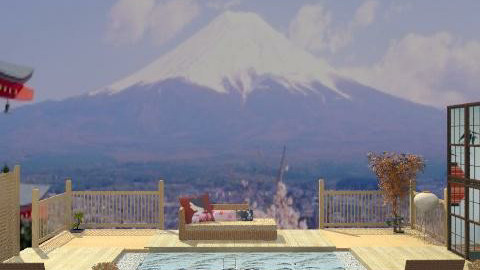 fuji pool2 - Country - Garden  - by leendave