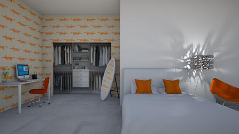 orange - Modern - Bedroom  - by designcat31