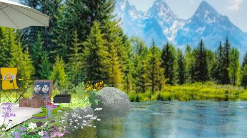 Picnic on the lake - Rustic - Garden  - by Bibiche