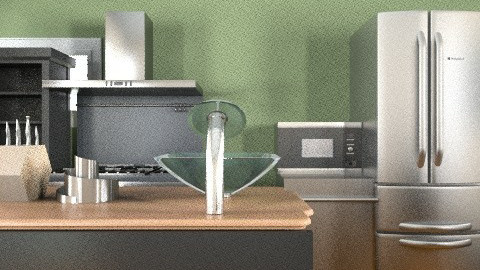 sleek - Rustic - Kitchen  - by Liliam