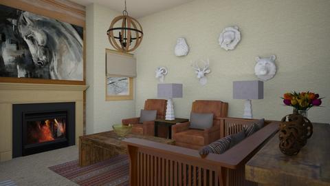 western - Rustic - Living room  - by steker2344