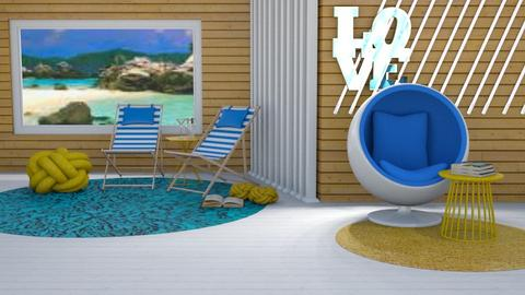 Beach Colours - Living room  - by ShazaD14