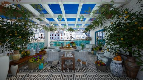 Mediterranean Terrace - Garden  - by lydiaenderlebell