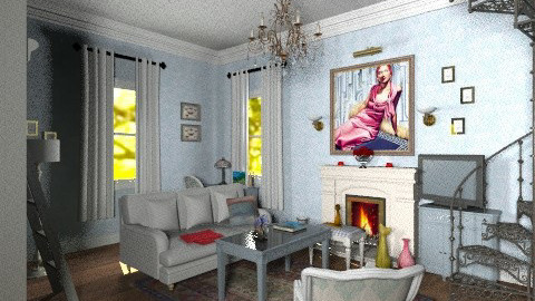 My tower apt sitting room - Classic - Living room  - by alleypea