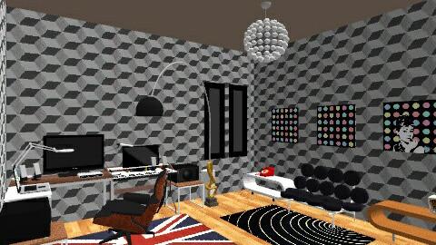 studio dj room - Minimal - Office  - by deedy saleh
