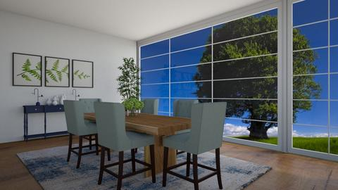 Green and Blue DiningRoom - Dining room  - by Tanem_Cagla