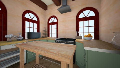 kyle kitchen 2 - Rustic - Kitchen  - by dora_a_smith
