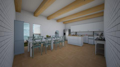White tile kitchen  - Eclectic - Kitchen  - by aschaper