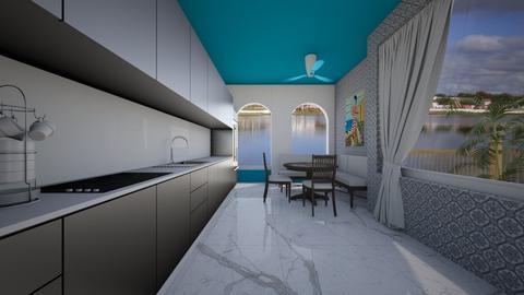 Modern Greek Kitchen Dini - Kitchen  - by Tupiniquim