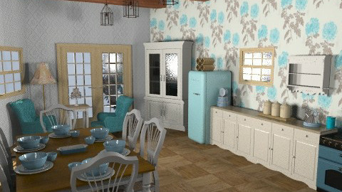 Cool blue kitchen - Classic - Kitchen  - by Nicky West