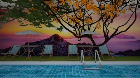 Swimming Grass Terrace - Garden  - by Maria Rachel