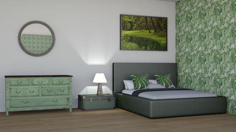 Forest Theme Bedroom - Bedroom  - by LaylaaaarrrJF