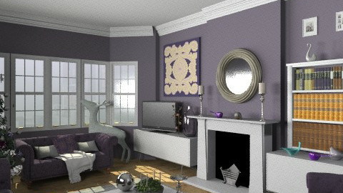 Christmas In Purple - Eclectic - Living room  - by camilla_saurus