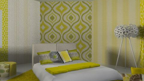 yellow patchwork - Eclectic - Bedroom  - by chania