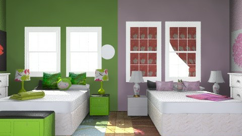 Teen Twin Room - Glamour - Bedroom  - by interior is what i need