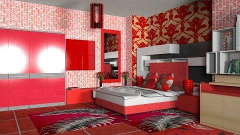 red room - Modern - Bedroom - by 5ruzk