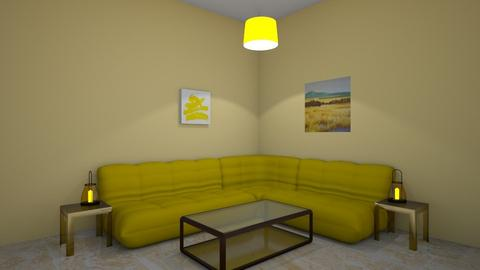 yellow  - Living room  - by addyrhy
