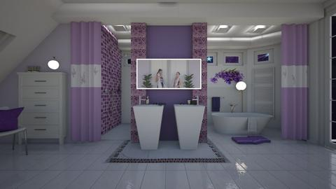 Matilda's lavender bathroom - by Matilda de Dappere