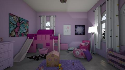 Pink And Purple Bedroom - Classic - Kids room  - by LivStyles09