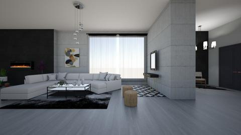 calm livingroom - Glamour - Living room  - by Wensday