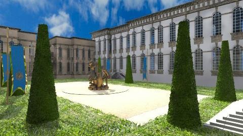 Castle Courtyard - Classic - Garden  - by yourjieee