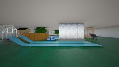 swimming themed garden - by tsvikaluli